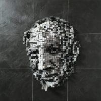 Picasso  Technique  mixte sur forex 60 cm x 60 cm