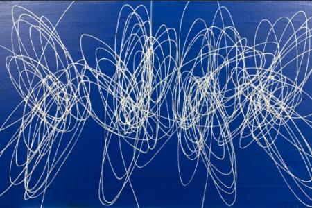 Spirale 1951 Huile sur toile  45 x 80 cm